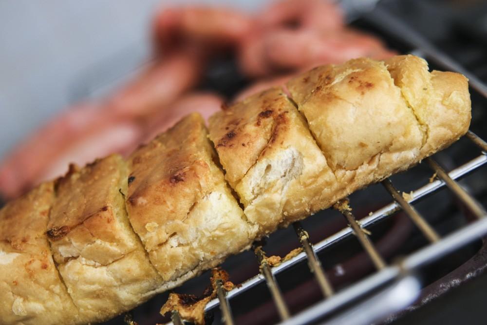 O pão de alho NUTRITEX para churrasco
